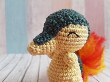 Gehäkeltes Amigurumi aus Baumwolle  inspiriert von Feuriegel  - Handarbeit kaufen