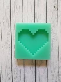 Resin Silikonform Herz Pixelherz 8 Bit - Handarbeit kaufen