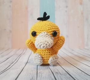 Pokemon Amigurumi gehäkelt Enton / Psyduck - Handarbeit kaufen