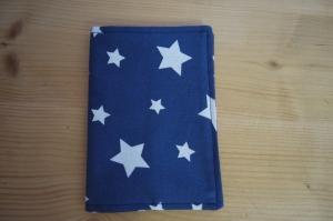 Impfpasshülle Sterne Blau 9,5cm x 13cm Reisepass