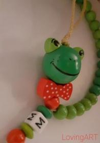 Rechenkette Frosch für Mädchen und Jungen Geschemk Schulanfang  - Handarbeit kaufen
