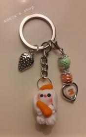 ! Schöner Schlüsselanhänger Bunny Hase Personalisiert (Buchstabe) ! - Handarbeit kaufen