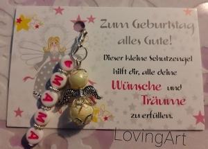 -Schutzgengel Perlenengel als kleines,aber feines Geburtstaggeschenk- Personalisiert für die MAMA- - Handarbeit kaufen