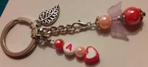 - Schutzengel Schlüsselanhänger  personalisiert mit einem Buchstaben- das besondere Geschenk- - Handarbeit kaufen