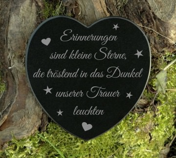 Grabschmuck Herz Trauerspruch Gedenkstein Marmor Erinnerungen