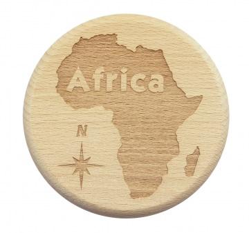 Bierglasdeckel Africa Trinkglasdeckel Afrika Buche