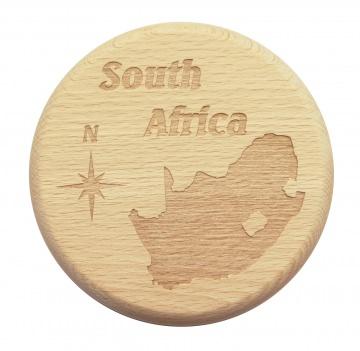 Bierglasdeckel Südafrika South Africa Buchenholz