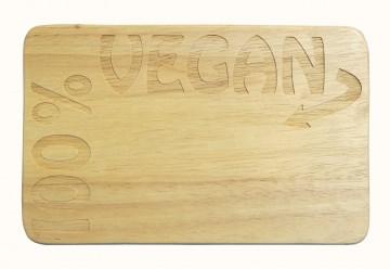 Frühstücksbrett 100% vegan Gravur Holz Gummibaum