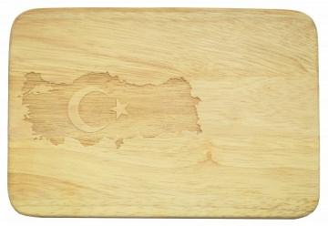 Frühstücksbrett Türkei Brotbrett Türkiye Gravur Holz