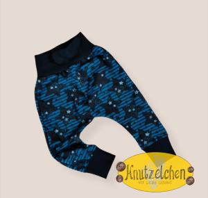 Lässige Hose Pumphose Baggy Sterne blau Größe 92/98