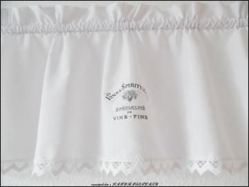 weiße Landhaus Scheibengardine Vintage FRENCH