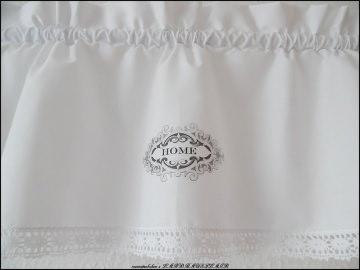 HOME weiße Landhaus Scheibengardine Vintage FRENCH