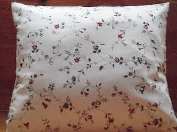 Kissenbezug ROSEN RANKE weiß rot blau Kissen Bezug 35 x 35 cm Landhauskissen