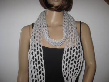 Schmuckschal, Schal aus weicher Baumwolle, auf viele Arten tragbar - Handarbeit kaufen