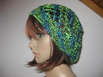 Mütze, Beanie, Sommer-Mütze mit tollen Farbeffekten