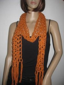 Schmuckschal, Schal aus Leinen und Baumwolle, auf viele Arten tragbar  - Handarbeit kaufen