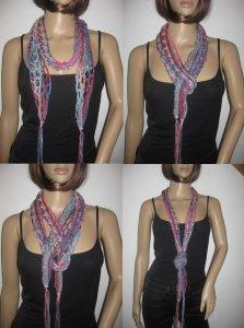 Schmuckschal, Schal aus Viskose und Baumwolle, auf verschiedene Arten tragbar  - Handarbeit kaufen