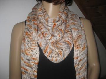Dreieckstuch, Schaltuch aus handgefärbter Wolle mit Seide