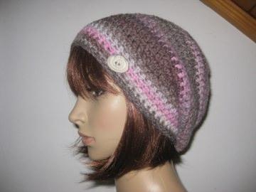 Mütze, Beanie mit auffälligem Farbverlauf in schönen Farben