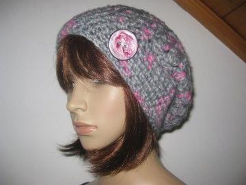 Mütze mit Mohair, Beanie im Boshi Style, Häkelmütze   - Handarbeit kaufen