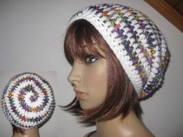 Mütze, Beanie im Spiral-Design, Häkelmütze, Boshi Style