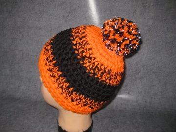Mütze mit reflektierender Leuchtbommel, reine Merino-WolleKindermütze