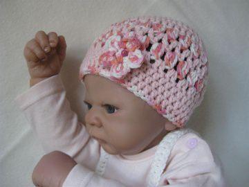 Babymütze, Neugeborenenmütze, Sommermütze, Erstlingsmütze