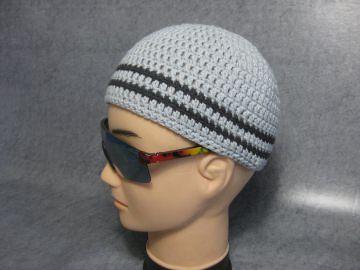 Männermütze extrakurz (ohrfrei), Mütze, aus Baumwolle mit Elasthan