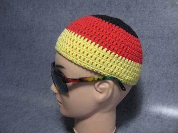 Männermütze extrakurz (ohrfrei), für Fußballfans, Mütze, aus Baumwolle mit Elasthan