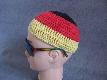 Männermütze extrakurz (ohrfrei), für Fußballfans, Mütze, aus Baumwolle mit Elasthan - Handarbeit kaufen