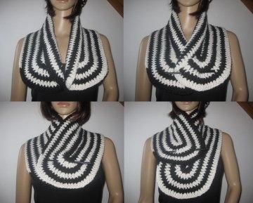 Schal, Halsschmeichler im Spiraldesign - Handarbeit kaufen