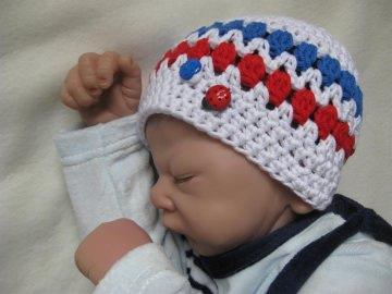Babymütze, Neugeborenenmütze, Sommermütze aus Baumwolle