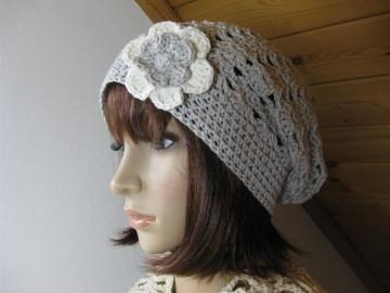 Mütze, Beanie, Sommer-Mütze aus Kaschmir und Baumwolle - Handarbeit kaufen