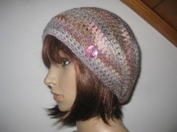 Mütze, Beanie im Boshi Style, Häkelmütze mit Farbverlauf