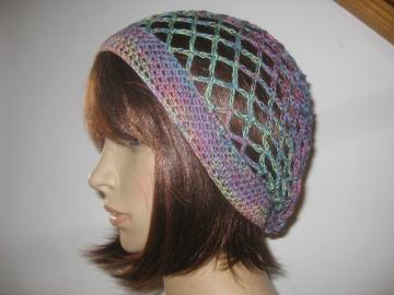 Federleichte Mütze, Beanie, Sommer-Mütze mit Farbverlauf