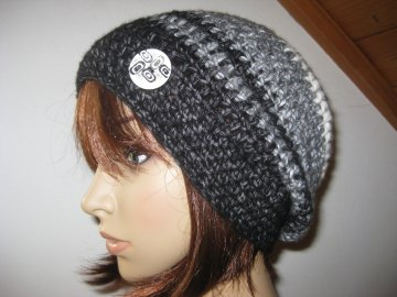 Mütze, kuschelweiche Wolle mit hübschem Muster, Beanie, Häkelmütze