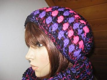 Mütze in auffälligen Farben, Beanie im Boshi Style, Häkelmütze