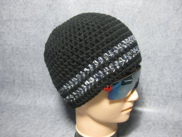Kurze Mütze, Beanie im Boshi Style, Häkelmütze, Männer-Mütze