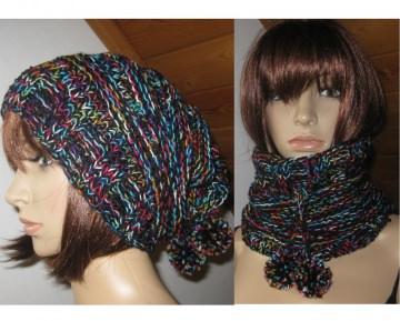 Mütze und/oder Loop-Schal, 2 in 1, verschiedene Tragemöglichkeiten, gestrickt - Handarbeit kaufen