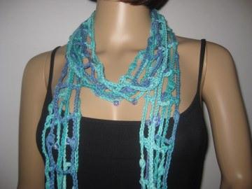Schmuckschal, Schal aus Viskose und Baumwolle, auf viele Arten tragbar