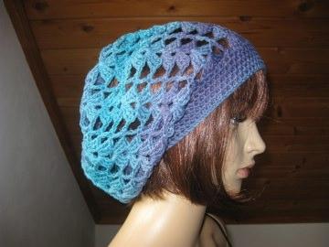 Mütze, Beanie, Sommer-Mütze mit schönem Farbverlauf, aus Baumwolle