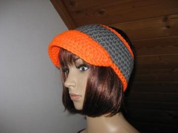 Stirnband mit Schild, Ohrwärmer aus dicker Wolle - Handarbeit kaufen