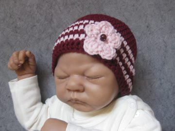 Babymütze, Neugeborenenmütze, Wintermütze aus reiner weicher Wolle, gehäkelt - Handarbeit kaufen