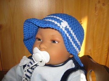 Babymütze, Sonnenhut, aus Baumwolle und Kapok