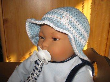 Babymütze, Sonnenhut, aus Baumwolle und Kapok - Handarbeit kaufen