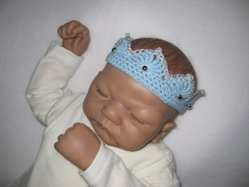 Baby-Haarband, Baby-Krone, Baby-Fotografie - Handarbeit kaufen