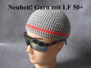 Männermütze extrakurz (ohrfrei), aus Garn mit Sonnenschutz, Mütze