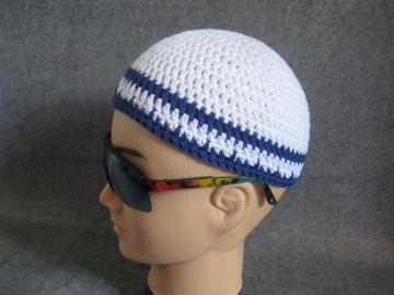 Männermütze extrakurz (ohrfrei), Mütze, aus Baumwolle mit Elasthan  - Handarbeit kaufen