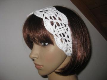 Haarband aus elastischer Baumwolle, Stirnband, Haarschmuck, gehäkelt