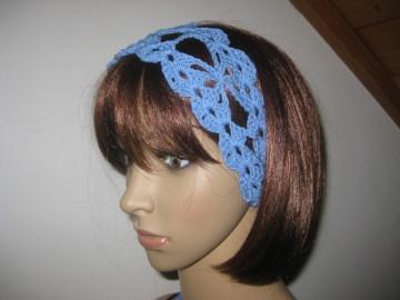 Haarband aus elastischer Baumwolle, Stirnband, Haarschmuck, gehäkelt  - Handarbeit kaufen